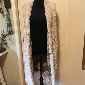 Free People Jackets & Coats - Free People long faux fur vest
